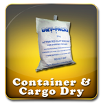 Container and Cargo Desiccant - Perfect for trailers, shipping containers, shipment of Automobiles, RV's, Campers, Motorcycles, etc.
